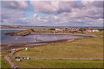 NU1341 : Towards Holy Island village by Ian Capper