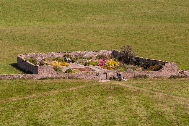 Walled garden, Lindisfarne Castle