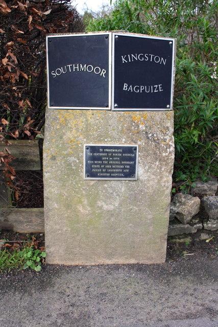 Restored parish boundary stone, Faringdon Road