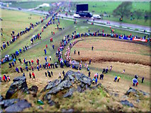 NT2773 : International Cross Country at Holyrood Park by Mick Garratt