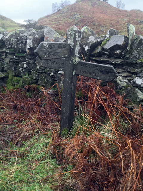 Sign post on the byway