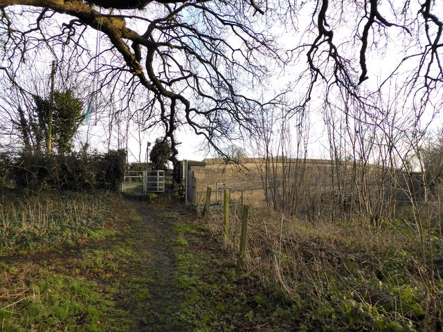 Footpath onto Barthomley Road near Crewe
