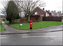 ST3091 : Queen Elizabeth II pillarbox, Japonica Close, Malpas, Newport by Jaggery