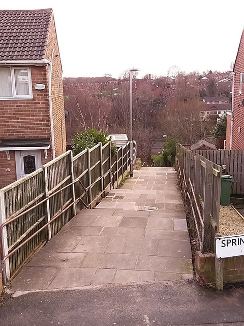 adba2b837 Steps down from Spring Valley View © Stephen Craven    Geograph ...