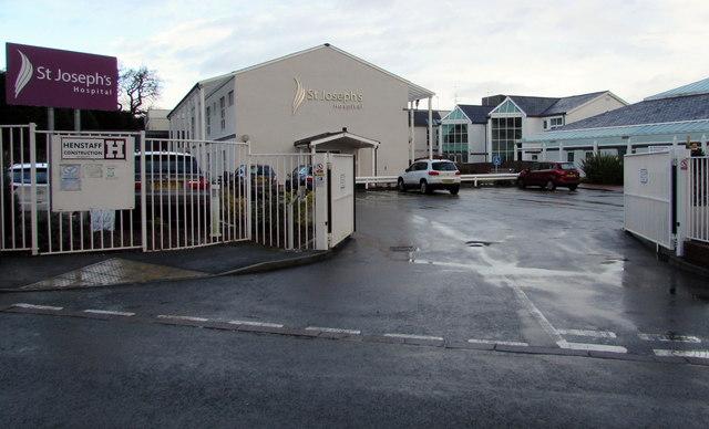 Entrance to St Joseph's Hospital, Malpas, Newport