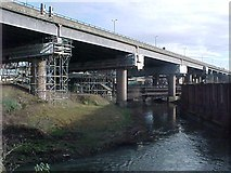 SP0990 : The M6 and the Birmingham & Warwick Canal cross the River Tame by Tim Glover
