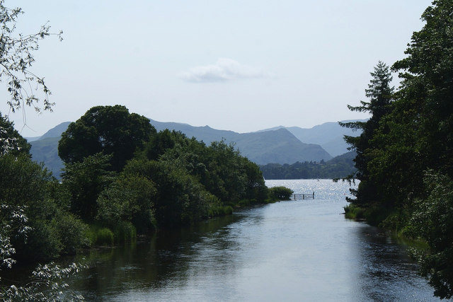 River Eamont flowing out of Ullswater at Pooley Bridge