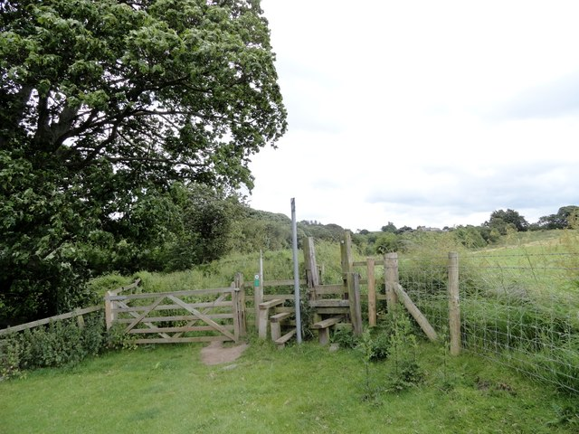 Stile on the path to Gibside Hillhead