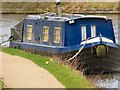 SJ9495 : Winter mooring at Moorside Place by Gerald England