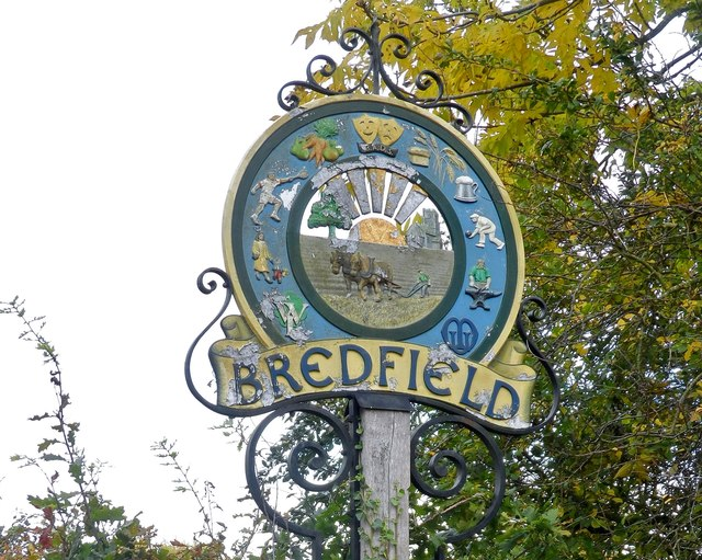 Bredfield, village sign