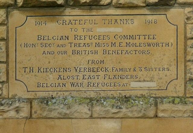 Belgian Refugees' Commemorative stone, 58 High Street