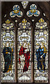SK7761 : Stained glass window, St Laurence's church, Norwell by Julian P Guffogg