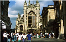 ST7564 : The west front of Bath Abbey by Jeff Buck