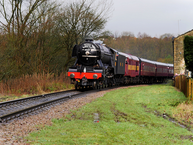 Flying Scotsman near Summerseat