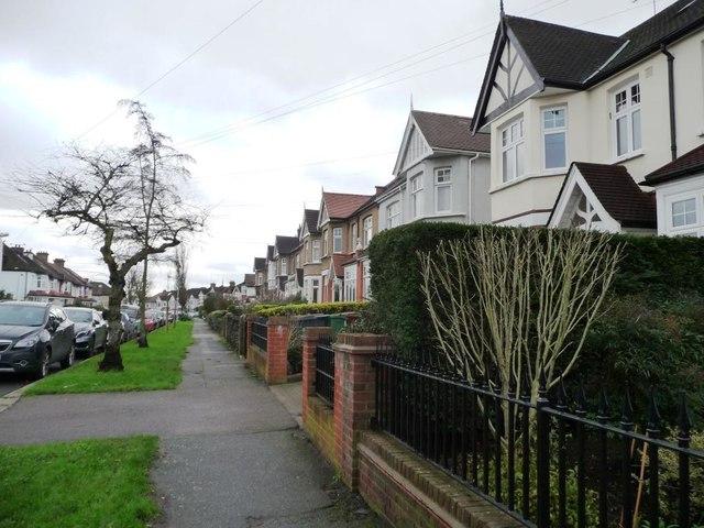 West side, Eglington Road, Chingford