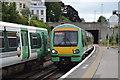 TQ4109 : Trains cross, Lewes Station by N Chadwick