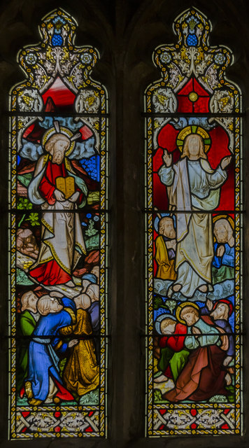 Stained glass window, St Wilfred's church, South Muskham