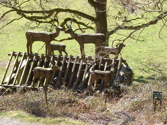 """Stag Herd Roof"", Grizedale Forest sculpture"