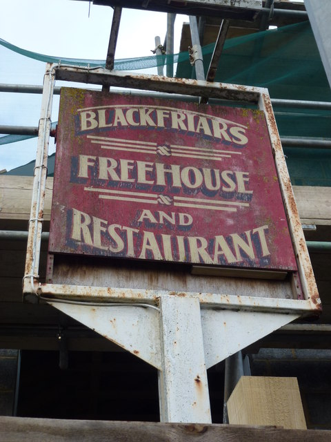 The Blackfriars (Sign) - Public Houses, Inns and Taverns of Wisbech