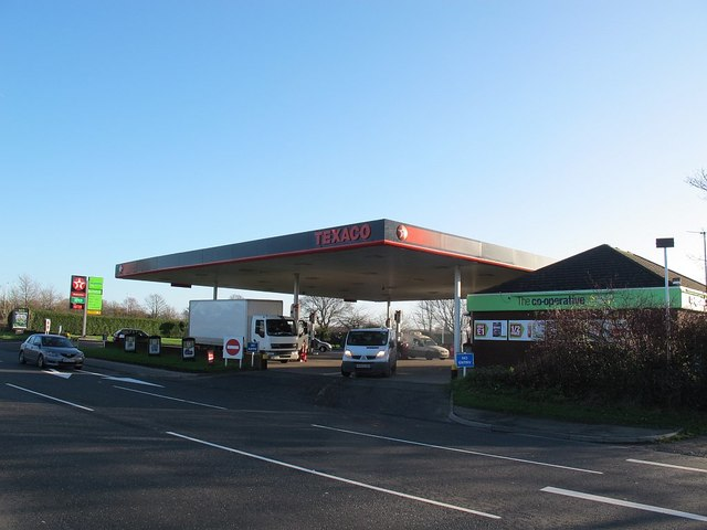 Texaco with Co-operative store, Sandbach