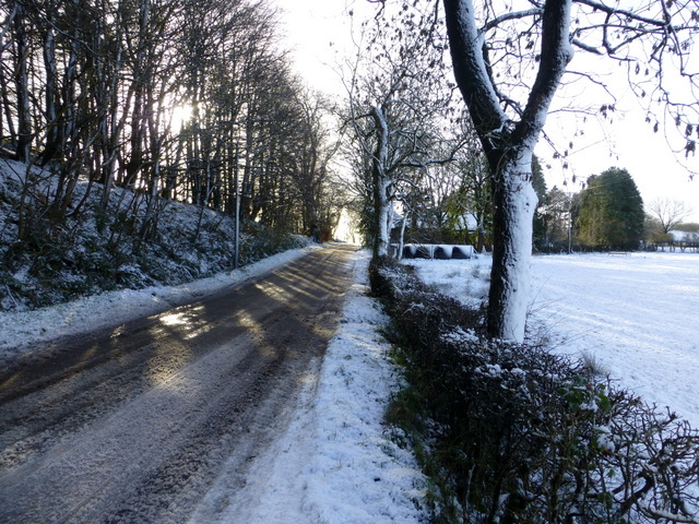 Wintry along Church Road