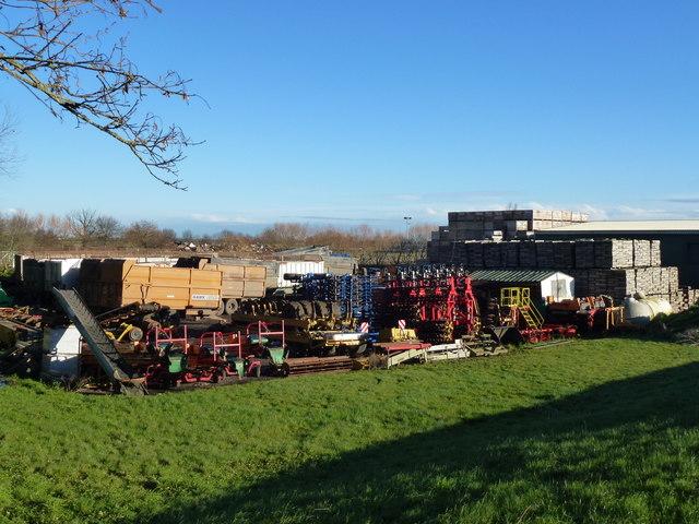 Farm machinery at Chear Fen Farms