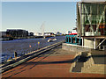 SJ8097 : Manchester Ship Canal at Salford Quays by David Dixon