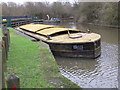 TQ1578 : Barge for maintenance materials, Grand Union Canal, Osterly by David Hawgood