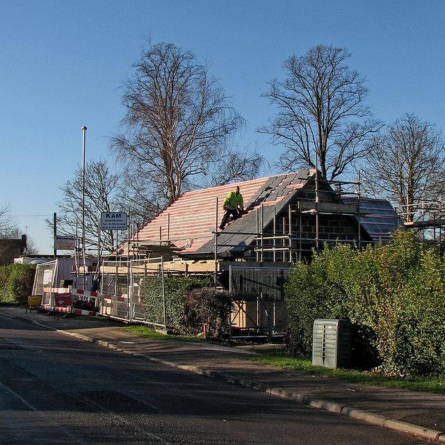 Great Shelford: slating on Granham's Road