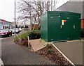 ST3486 : Central Avenue electricity substation, Newport Retail Park by Jaggery