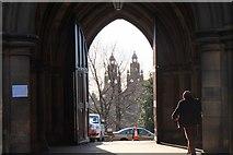 NS5666 : University doorway, Glasgow by Jim Barton