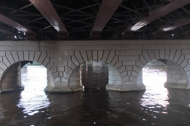 Below the Caledonian railway bridge, Glasgow