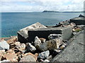 SM9539 : North breakwater, Fishguard harbour (4) by ceridwen