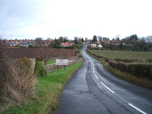Entering Heighington