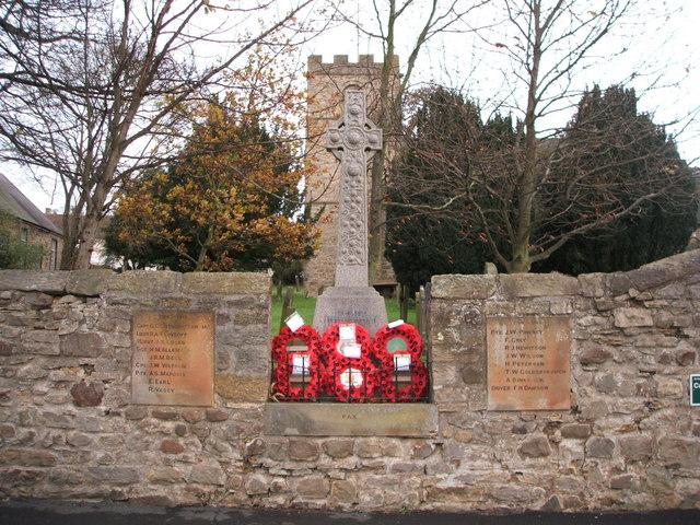 War Memorial, Heighington