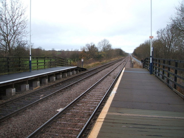 Railway heading north west from Newton Aycliffe Railway Station