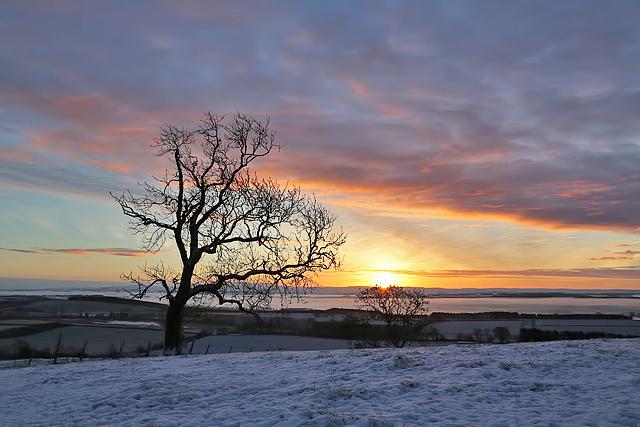 Sunrise on Bemersyde Hill