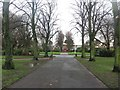 NZ2468 : Path in Gosforth Central Park by Graham Robson