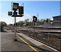 SX9193 : Railway signal E160, Exeter St Davids by Jaggery