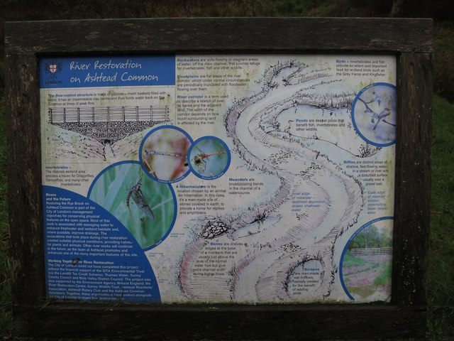 River restoration notice board