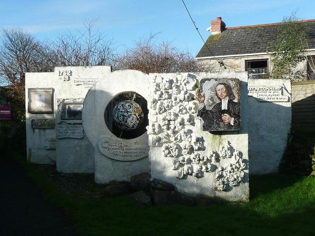 Artwork display at Gwennap Pit, St Day