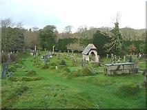 SW7340 : Churchyard and lychgate, Gwennap by Humphrey Bolton