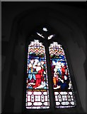 TQ5203 : St Andrew, Alfriston: stained glass window (ii) by Basher Eyre