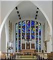TF0267 : Chancel and east window, All Saints' church, Branston by Julian P Guffogg