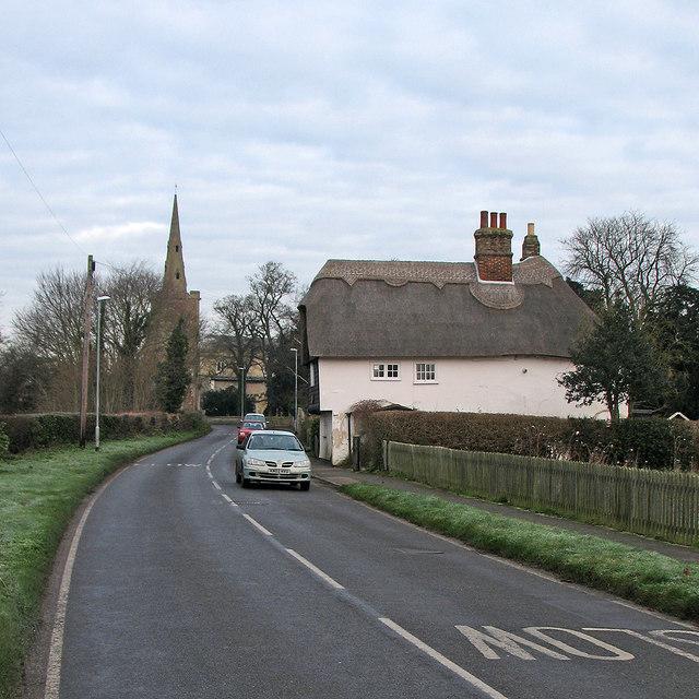 Landbeach: Milton Cottage and frosty verges