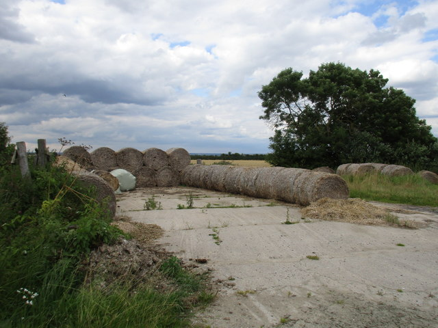 Old straw bales