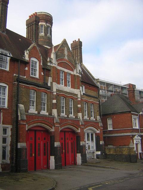 Woolwich: closed fire station, Sunbury Street
