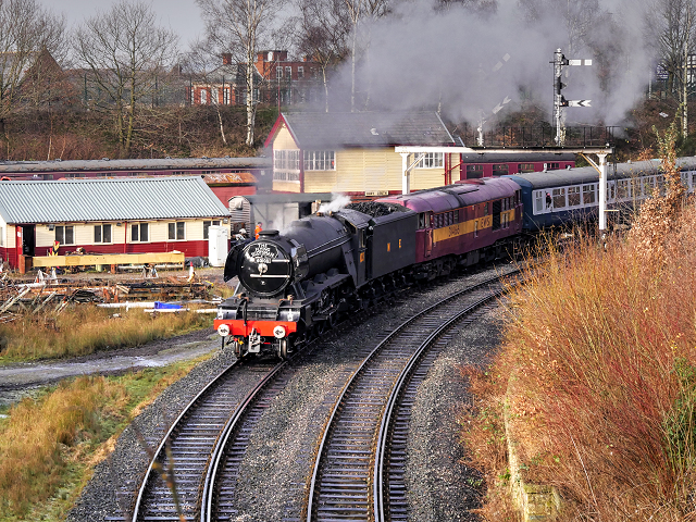 East Lancashire Railway Scotsman in Steam, Bury South Junction