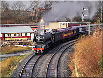 SD8010 : East Lancashire Railway Scotsman in Steam, Bury South Junction by David Dixon
