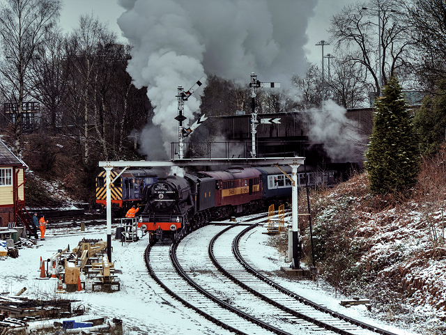 Flying Scotsman at Bury South Junction, East Lancashire Railway